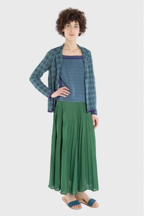 Pleated skirt DANCE Green