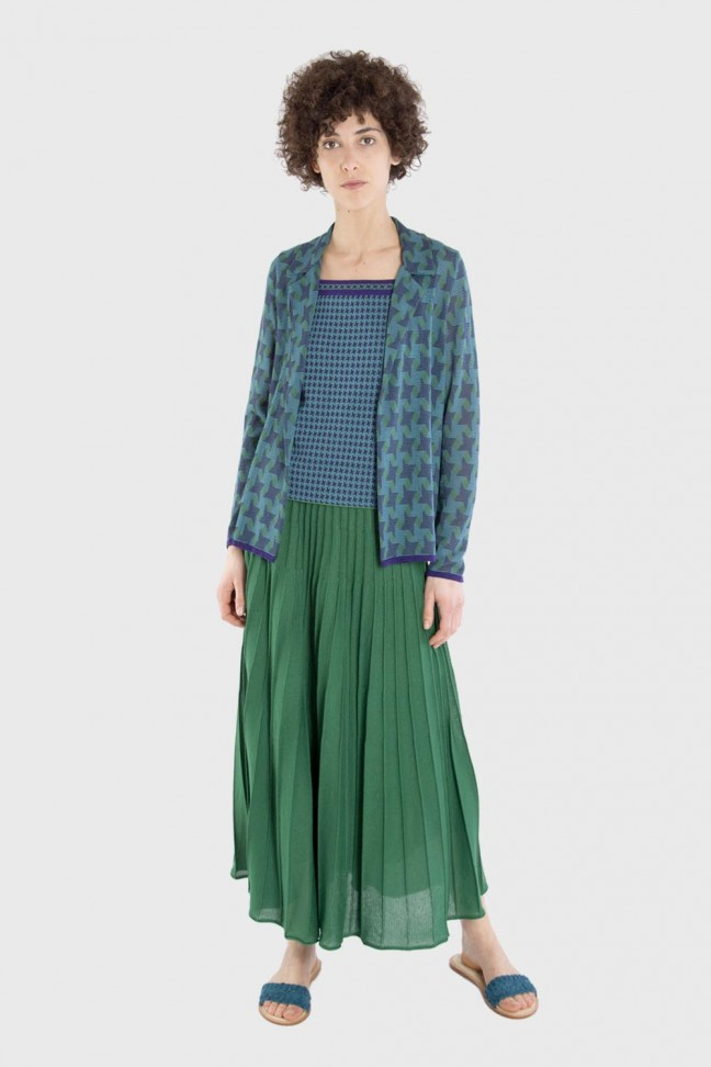 Pleated skirt DANCE Green