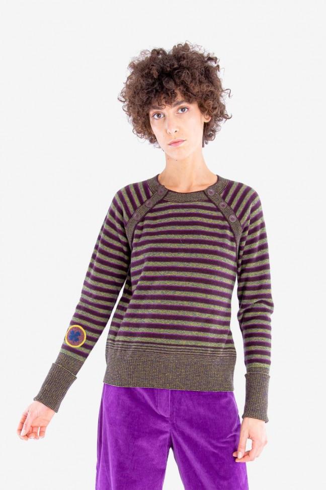 Striped sweater BLASON Burgundy