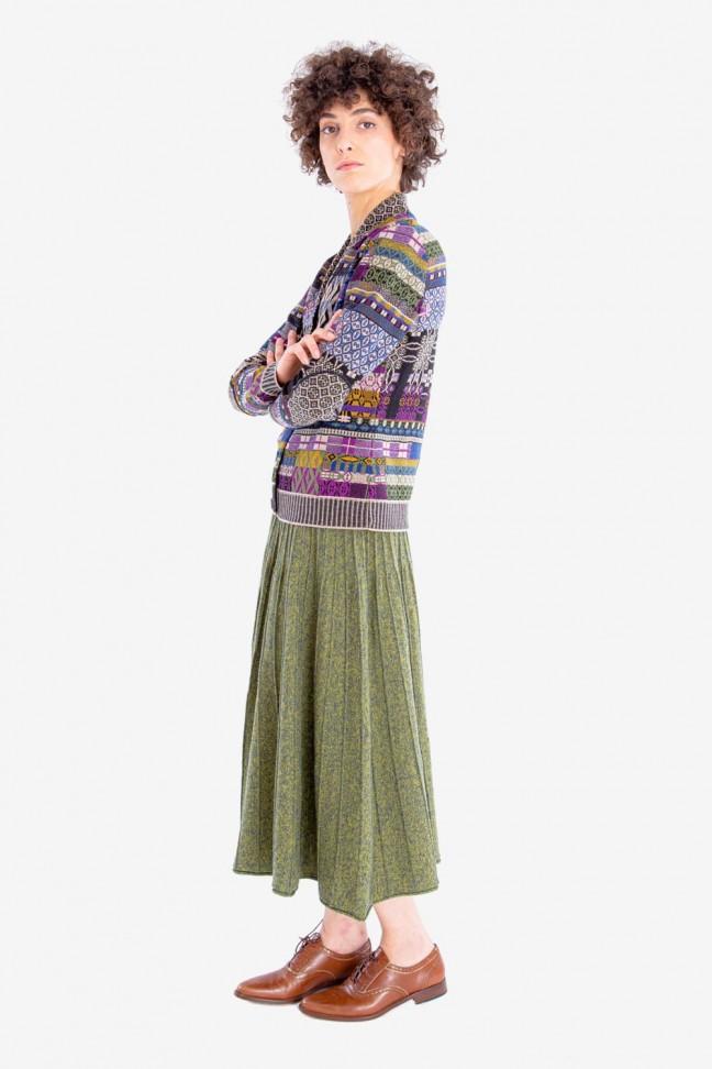 Pleated skirt BLASON Green