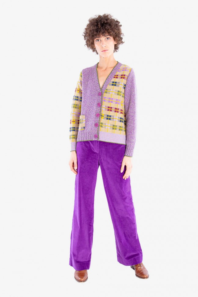 Large pants VICTOR Purple