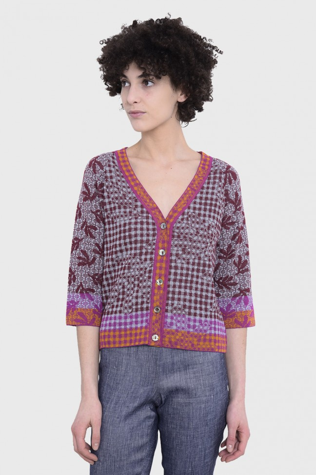 Cardigan VALLREVERS Burgundy