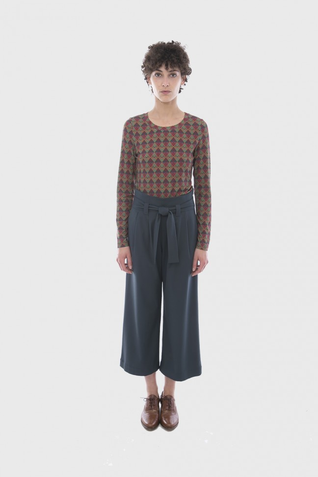 Cropped Pants OMEGA Green