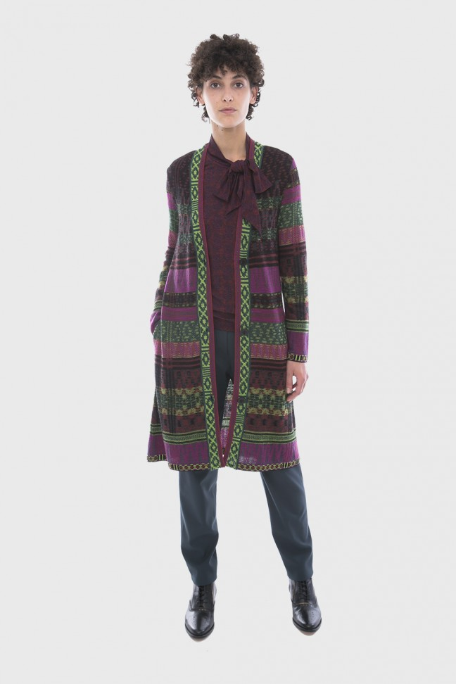 Gilet long TALISMAN Bordeaux