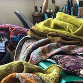 Isolation ,knits and spring colours in my studio