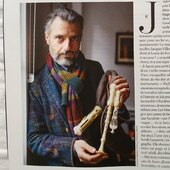 Our jacket and scarf on François Lazarevitch @classicamag - thank you
