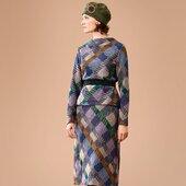 Le thème Tartan de l'Automne Hiver 2021-2022 Photographié par Richard Haughton #catherineandre #knit #knitwear #madeinfrance